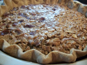 Bacon Maple Walnut Pie
