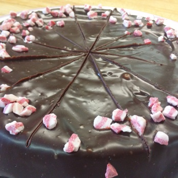 Flourless Chocolate Torte with a Mint Ganache